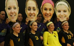 Senior volleyball players step up in special home game