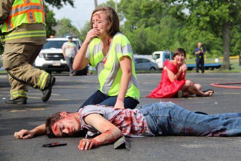 Mock car crash
