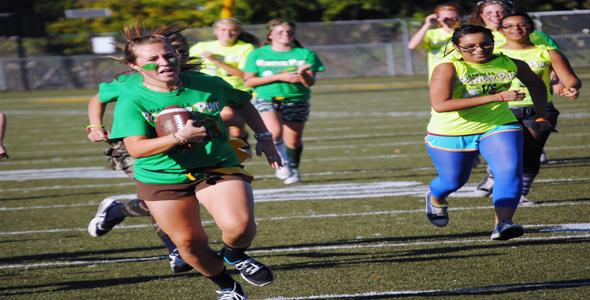 Wild prevails: seniors win powder puff