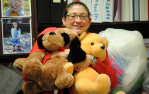 Czuppon stuffs her office with Tired Teddies