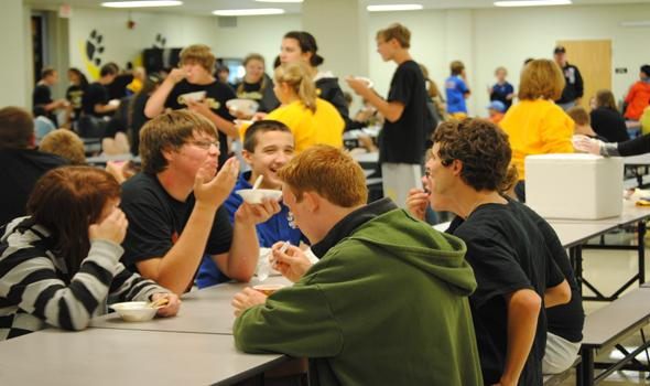 Band welcomes eighth graders into