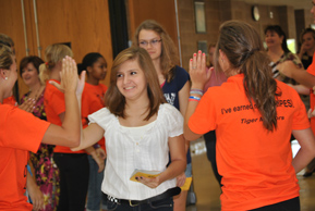 "Freshman Orientation: Incoming students learn about ""Our House"""