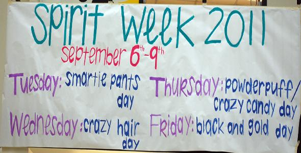 Spirit week 2011 takes a sweet turn