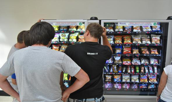 Crunch Time: New vending machines give OHS students choices.