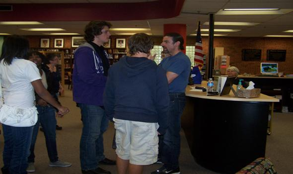 Author gives students an experience to write home about