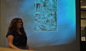 Author shares passion for fantasy and history with students
