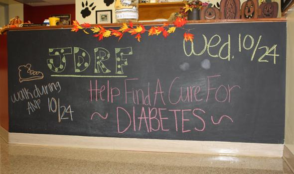 Students walk for diabetes