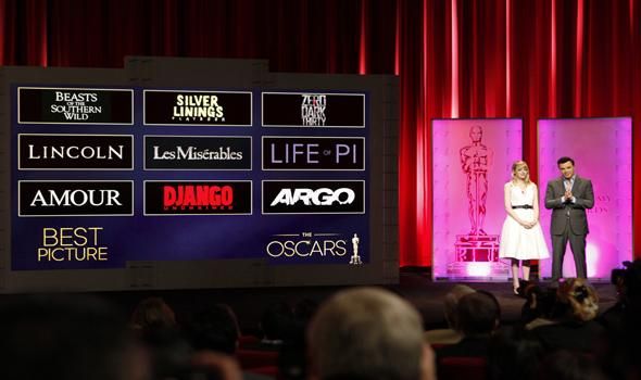Oscar's announce nominees