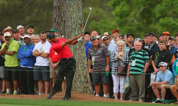 Tiger fights demons with club in hand