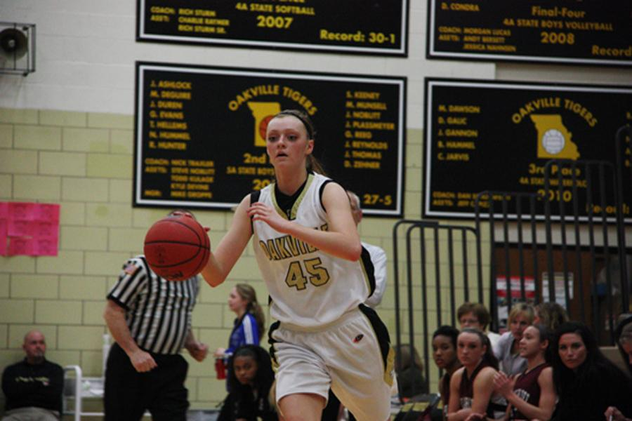 Girls Basketball hangs on over rival Mehlville Panthers