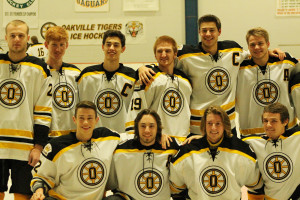 Hockey seniors celebrate final regular season game with win