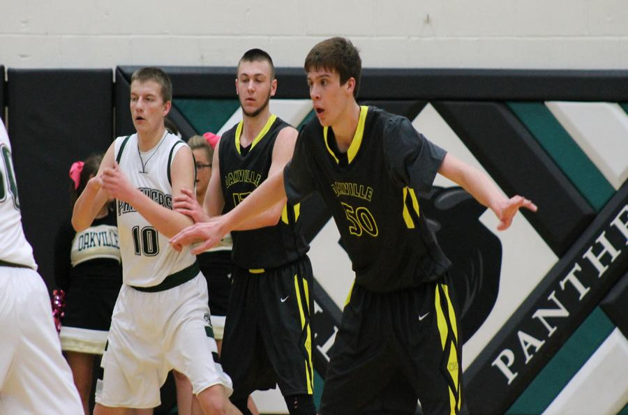 Austin Gillmann plays defense in a game earlier this year against Mehlville.