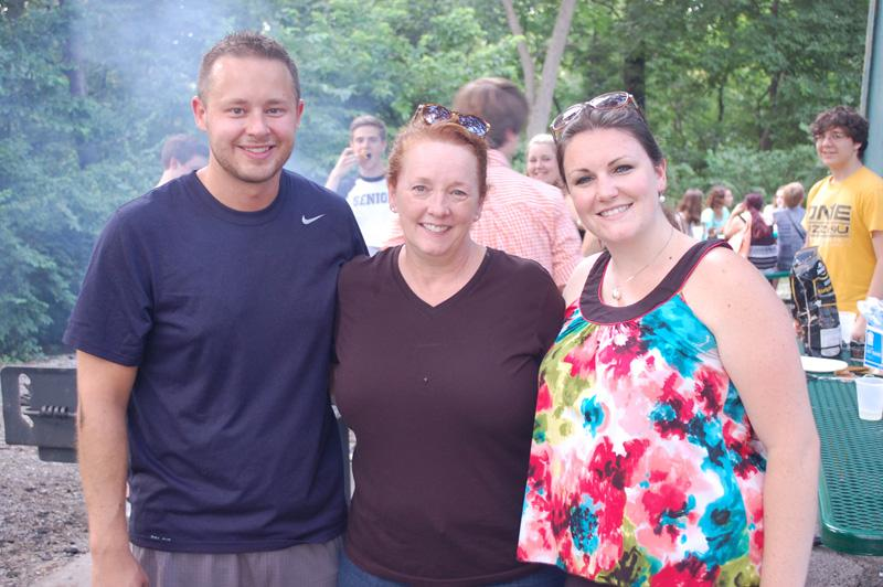Martin (center) poses with new choir teachers Wegener (left) and Ayres (right).