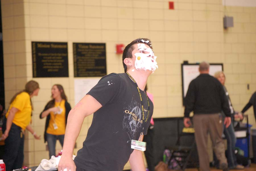 Matthew Helldoerfer (11) participates in a game in last year's Winter Pep Rally.