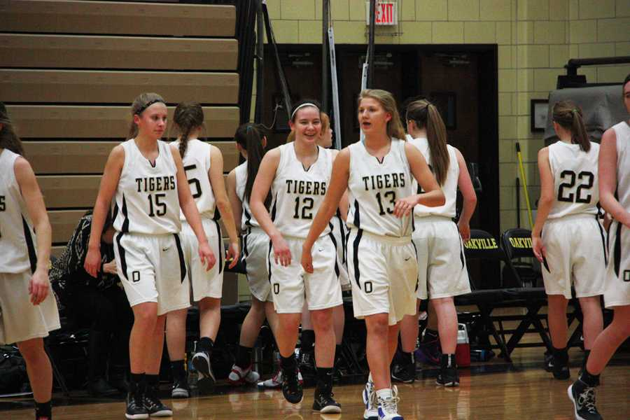 The+freshman+girls+basketball+team+share+a+bond+on+and+off+the+court.+Their+next+home+game+is+Friday%2C+Feb.+13+against+Northwest.+