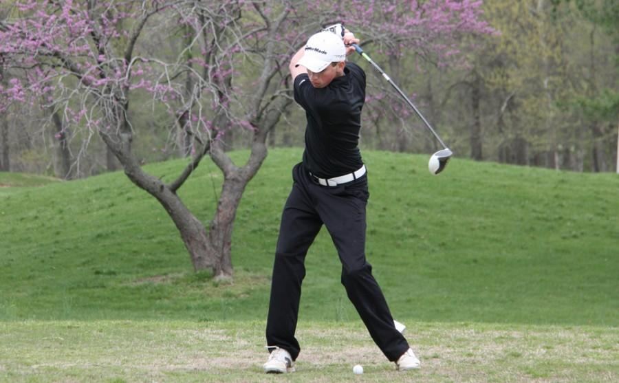 John+Pybas+%2812%29+golfs+against+Mehlville.+Pybas+got+fifth+place+at+the+conference+tournament+on+April+30.