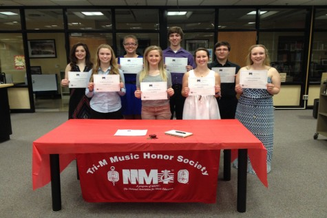 Nine students inducted into Tri-M Music Honor Society