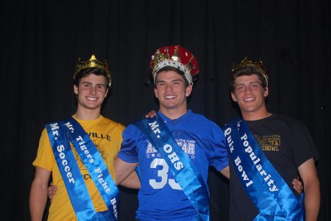 The three contestants who won titles in Mr. OHS.