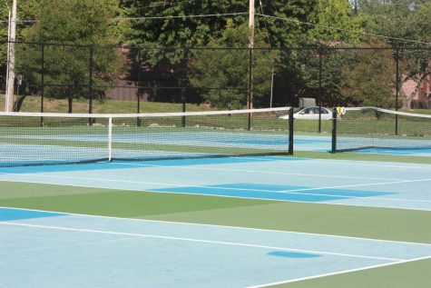Tennis court renovations cause a racket