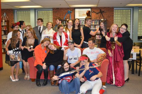 5th block Spanish students goof around after performing their characters to Spanish I students on Nov. 30.