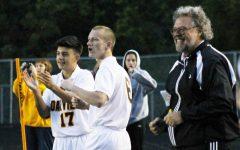 AJ Wiedermann smiles on his father