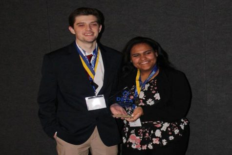 DECA members compete at state, two qualify for nationals
