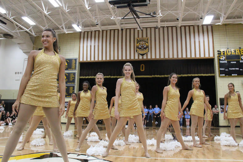 Golden Girls performing on the first day of school.