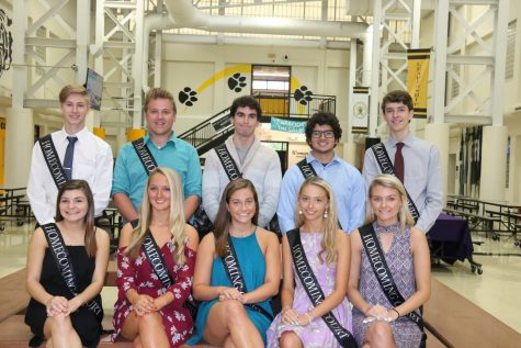 Homecoming court participants.