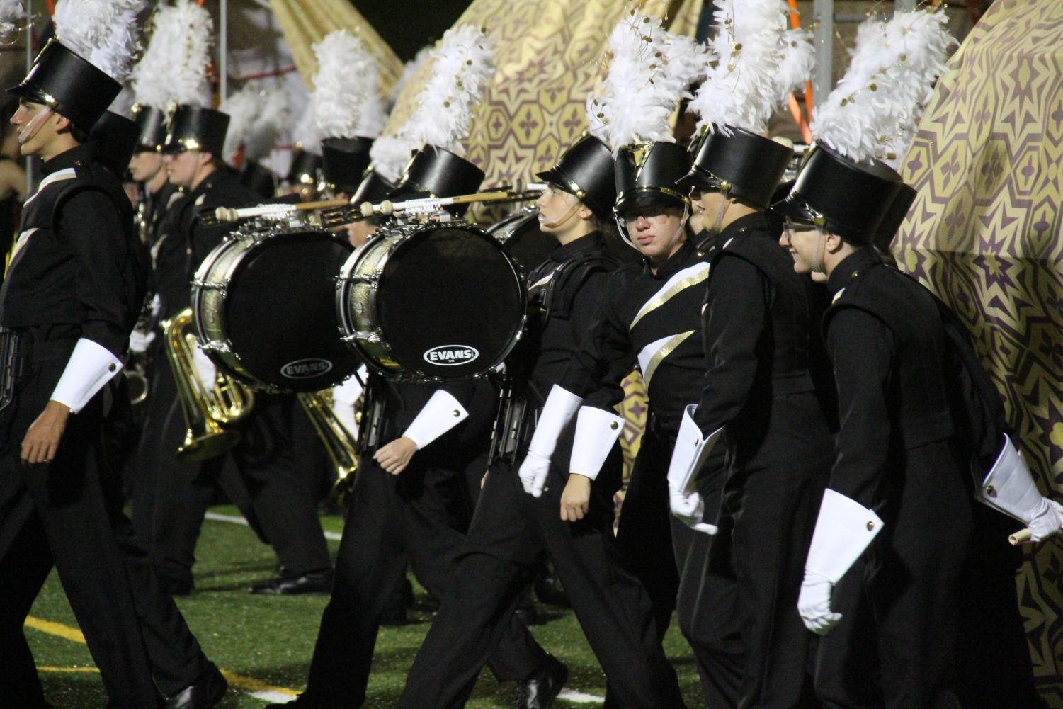 OHS band takes the field Sept. 14th.