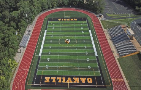 Drone shot of the new OHS field.
