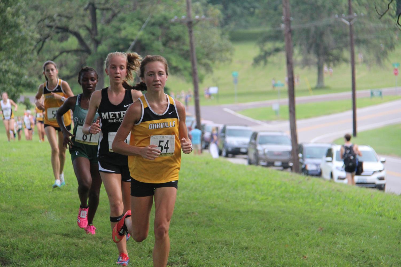 Girls cross country race