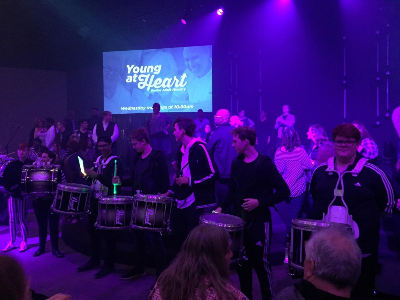Band performing at Twin Rivers Worship Center.