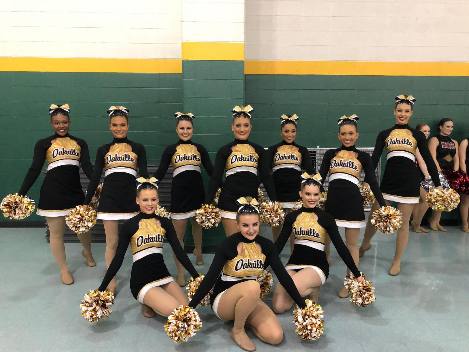 Golden Girls placing in 2A pom and mixed A categories.