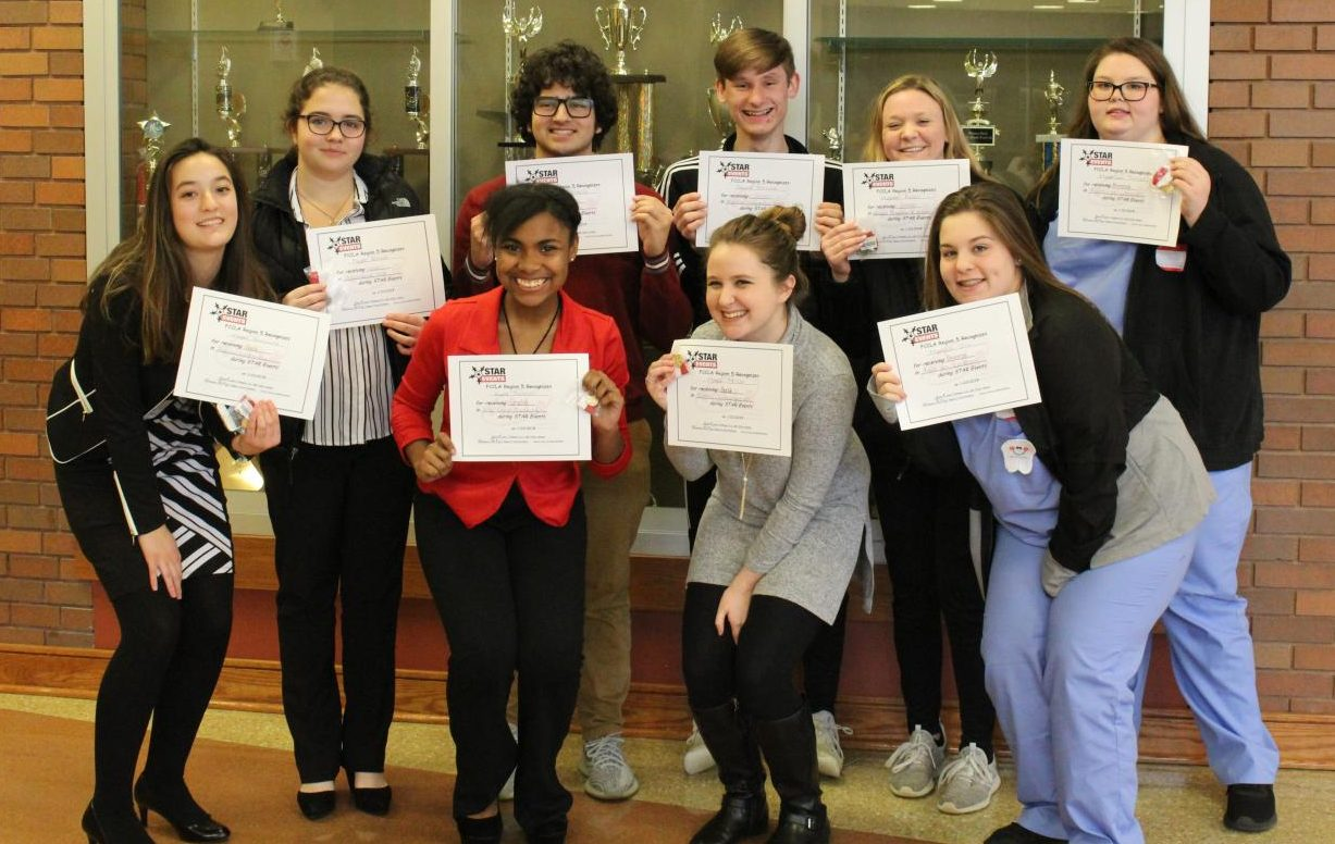 FCCLA students share their award proudly.
