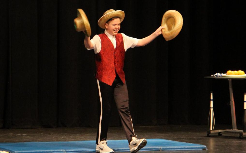 Sean Petric (10) performing at Oakville's got talent.