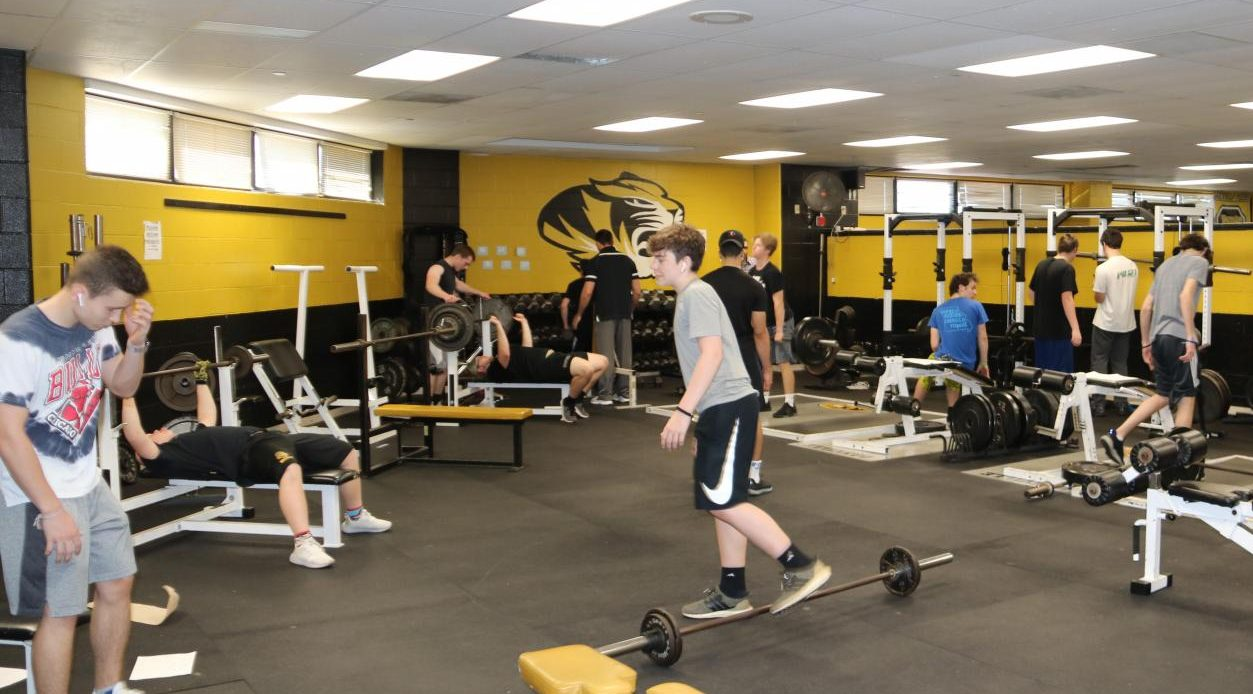 The outdated OHS weight room.
