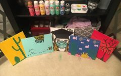 Emily Merritt (12) paints to keep herself busy and positive during the stay at home order.
