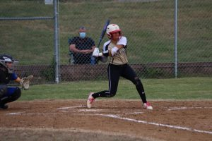 Ella Strickland (12) bats against Eureka, a 4-3 win on Sept. 29.
