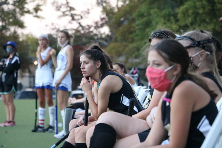 Even from the sidelines, Natalie Gang (12) and teammates anxiously watch OHS play Westminster on Oct. 22. Prior to this game, OHS let in no goals.