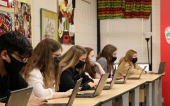Students in Mrs. Jennifer Lieberoff's spanish class study closer together with the return of full in-person scheduling.