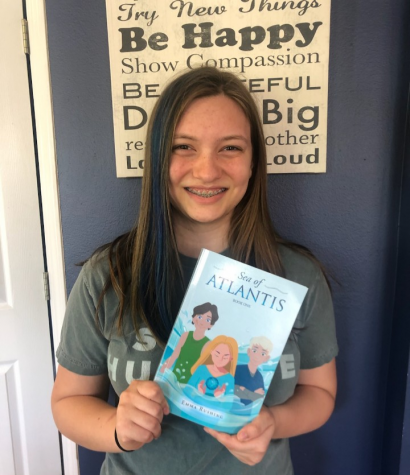 Emma Rushing (10) has published her first book, Sea of Atlantis, at the young age of 15.