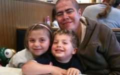 Tomas Aguado with his two children, Madeleine and Braxton Aguado, during the time period in which he was awaiting his transplant.