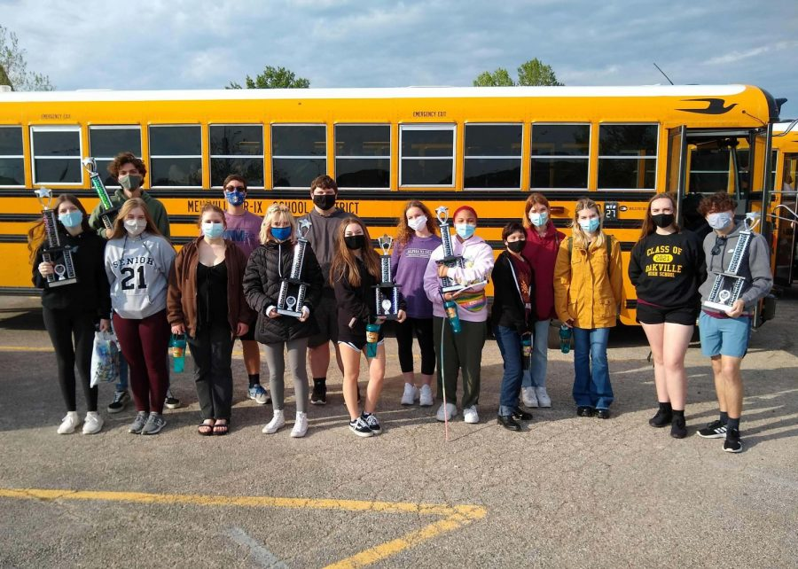 The choir program went home with several trophies after a successful day at  Eureka High School on May 8 for competition.