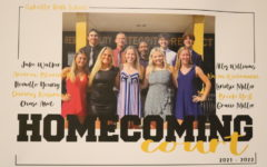 A poster for Homecoming shows the nominees of the 2021 Homecoming Court.